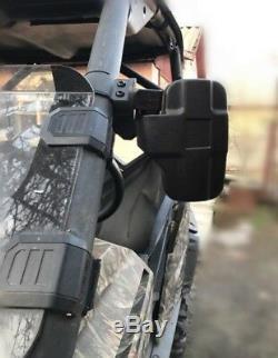 1.75'' Rear & Side View Mirrors Set For UTV Rhino Polaris Ranger Kawasaki Gator