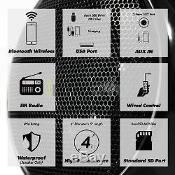 1000W Amp Bluetooth Waterproof ATV UTV RZR Polaris Stereo 4 Speaker Audio System