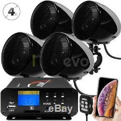 1000W Amp Bluetooth Waterproof ATV UTV RZR Polaris Stereo Speakers Audio System