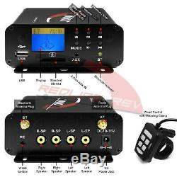1000W Waterproof Bluetooth ATV UTV RZR Polaris Quad Stereo Speakers Audio System