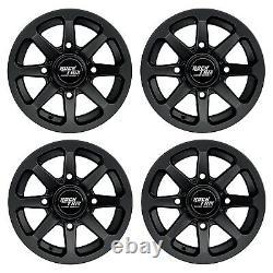 12 RockTrix RT102 ATV UTV Wheels Rims 12x7 4x156 4/156 4+3 offset