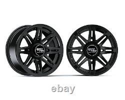 12 RockTrix RT103 ATV UTV Wheels Rims 12x7 4x156 4/156 4+3 offset
