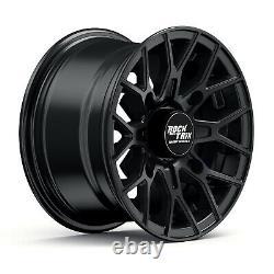 12 RockTrix RT104 12x7 4x156 ATV Wheels Rims, 4+3 offset, Includes 3/8x24 Nuts
