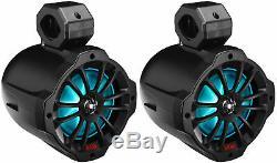 (2) Boss B62RGB 6.5 LED Swivel Tower Speakers withBluetooth 4 Polaris RZR/ATV/UTV