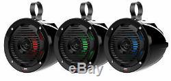(2) MTX MUD65PL 6.5 100w LED Tower Speakers+Covers For Polaris RZR/ATV/UTV/Jeep