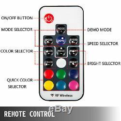2 Pcs 4FT LED RGB Lighted Antenna Lights Whip Flag Pole Off-Road For ATV RZR UTV