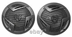 (2) Rockville 5.25 Rollbar Tower Speakers For Polaris/JEEP/ATV/UTV/RZR/CART