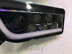 2014-2018 Polaris Rzr 1000 Xp/turbo- Black & White Angel Eye Led Headlights Halo