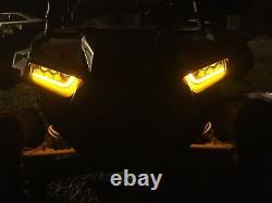 2015-2020 Polaris Rzr 900 S- Orange Led & Angel Eye Headlights Conversion