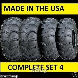 25 Itp Mud Lite 25x8-12 25x10-12 Set 4 Atv / Utv Tires Made In USA 6 Ply