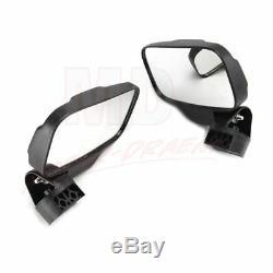 2Pcs UTV ATV Rear View Mirror Side Mirrors Set 1.75 2 Roll Bar For Polaris RZR