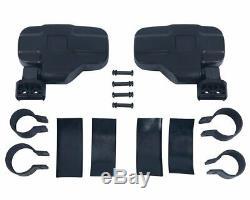 2Pcs Universal Car Rearview UTV Side View Mirror Set Adjustable Roll Bar Cage LM