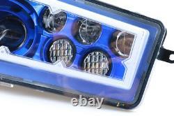 2X Auto Accessories ATV Blue Halo LED CREE Headlight for Polaris RZR 900 XP 1000