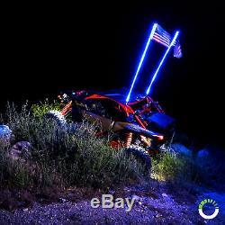 2pc 3ft LED Whip Light for UTV ATV Accessories RZR Can-Am Polaris Antenna