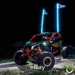 2pc 4ft LED Whip Light for UTV ATV Accessories RZR Can-Am Polaris Antenna