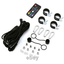 2x 3ft Spiral RGB LED Whip Light +Remote for UTV ATV RZR Can-Am Polaris Antenna