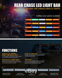 30 Rear Chase Light Bar Brake Running Reverse for Offroad UTV Polaris RZR Buggy