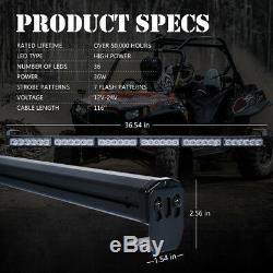 36 LED Rear Chase Strobe Light Bar for ATV UTV RZR SXS Polaris Off-Road Jeep