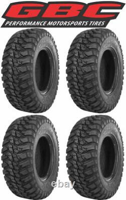 (4) GBC Mongrel 25x8-12 FRONT & 25x10-12 REAR 10-Ply Radial Complete Tire Set