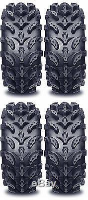 4 Interco Swamp Lite ATV Tires Set 2 Front 25x8-12 & 2 Rear 25x10-12 SwampLite