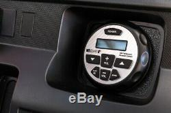 (4) Rockville 8 600w Tower Speakers+Bluetooth Receiver For Polaris RZR/ATV/UTV