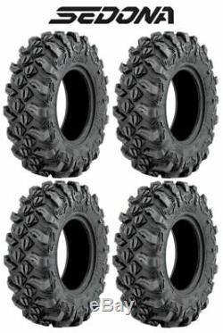 (4) Sedona Buck Snort 27x9-14 FRONT & 27x11-14 REAR 6 Ply Bias Utility UTV Tires
