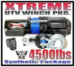 4500lb Xtreme Utv Winch 14-19 Polaris Rzr/rzr 4/general 900/1000/turbo Rxr Razor