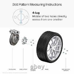 4pc 1.5 Thick ATV 4/156 Black Wheel Spacers 4x156 Polaris 3/8 Stud Flat Nut