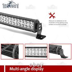 50 288W Curved LED Light Bar 2x 4 Pods Polaris Fullsize XP 900 1000 Ranger 570