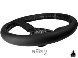 Assault Industries 350R Universal UTV SXS Leather Steering Wheel RZR CanAm YXZ