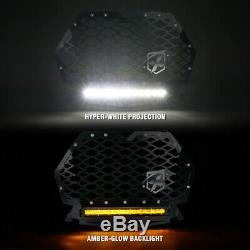 Black Steel Mesh Grille with 60W LED Lightbar for 2019-2020 Polaris RZR 1000 XP