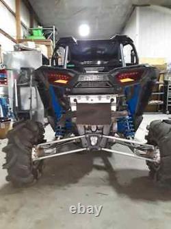 Black aluminum Polaris rzr 1000xp rear floor guards turbo xpt tank highlifter