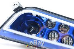 Blue Led Angel Headlights For 2014-2018 Polaris RZR 1000 XP & Turbo RZR 900 S