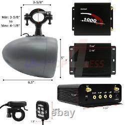 Bluetooth ATV UTV Stereo Speakers Audio FM Radio USB System RZR Polaris Wildcat