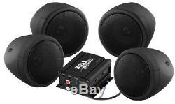 Boss Audio 1000w 4-speaker Bluetooth Sound System Black Polaris Kawasaki All Utv