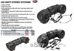 Boss Audio 450w All Terrain Sound System Bluetooth Polaris Atv Utv