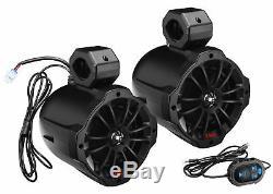 Boss B62ABT 6.5 750w Powered Tower Speakers withBluetooth For Polaris RZR/ATV/UTV