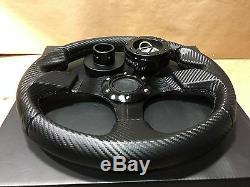 Carbon Black F Steering Wheel Quick Release Hub Black For Polaris RZR 900/1000