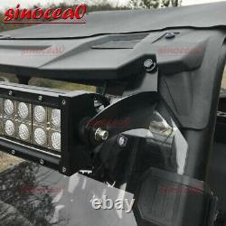 Curved LED Bar Light Pod Upper Roof Roll Bar Bracket Fit Polaris RZR 900S 1000