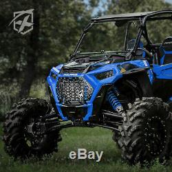 Fit 2019-2020 Polaris RZR 1000 XP Turbo Black Steel Front Mesh Grille with Badge