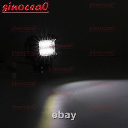 Fit Polaris RZR 900 XP1000 Curved 30 Light Bar+Side Pillar LED Aux Lamp+Bracket
