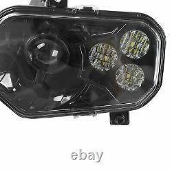 For 11-14 Polaris Rzr 800 New Black Led Conversion Headlights Kit 900 Xp Style