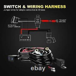 For Polaris RZR 570 800 900 1000 4 S XP XP 4 Turbo Curved LED Light Bar Kit 30