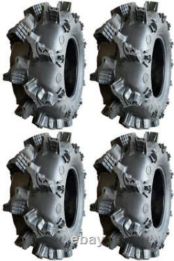 Four 4 Interco Sniper AT ATV Tires Set 2 Front 27x9-14 & 2 Rear 27x11-14