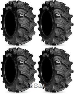 Four 4 Kenda Executioner ATV Tires Set 2 Front 25x8-12 & 2 Rear 25x10-12 K538