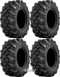 Four 4 Sedona Buck Snort ATV Tires Set 2 Front 27x9-14 & 2 Rear 27x11-14
