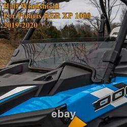 Front Half UTV Windshield For Polaris RZR XP 1000 Turbo XP XP4 4 1/4 2019-2021
