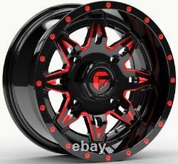 Fuel Lethal UTV Wheels Red/Black 14 Polaris RZR 1000 XP (4)
