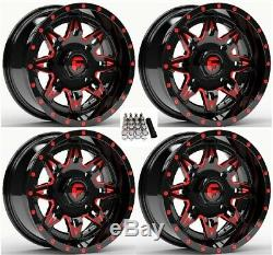 Fuel Lethal UTV Wheels Red/Black 15 Polaris RZR 1000 XP (4)