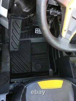HEAVY DUTY ALL WEATHER FLOOR MATS x4 -POLARIS 4 SEATER RZR 900 1000 XP TURBO 4